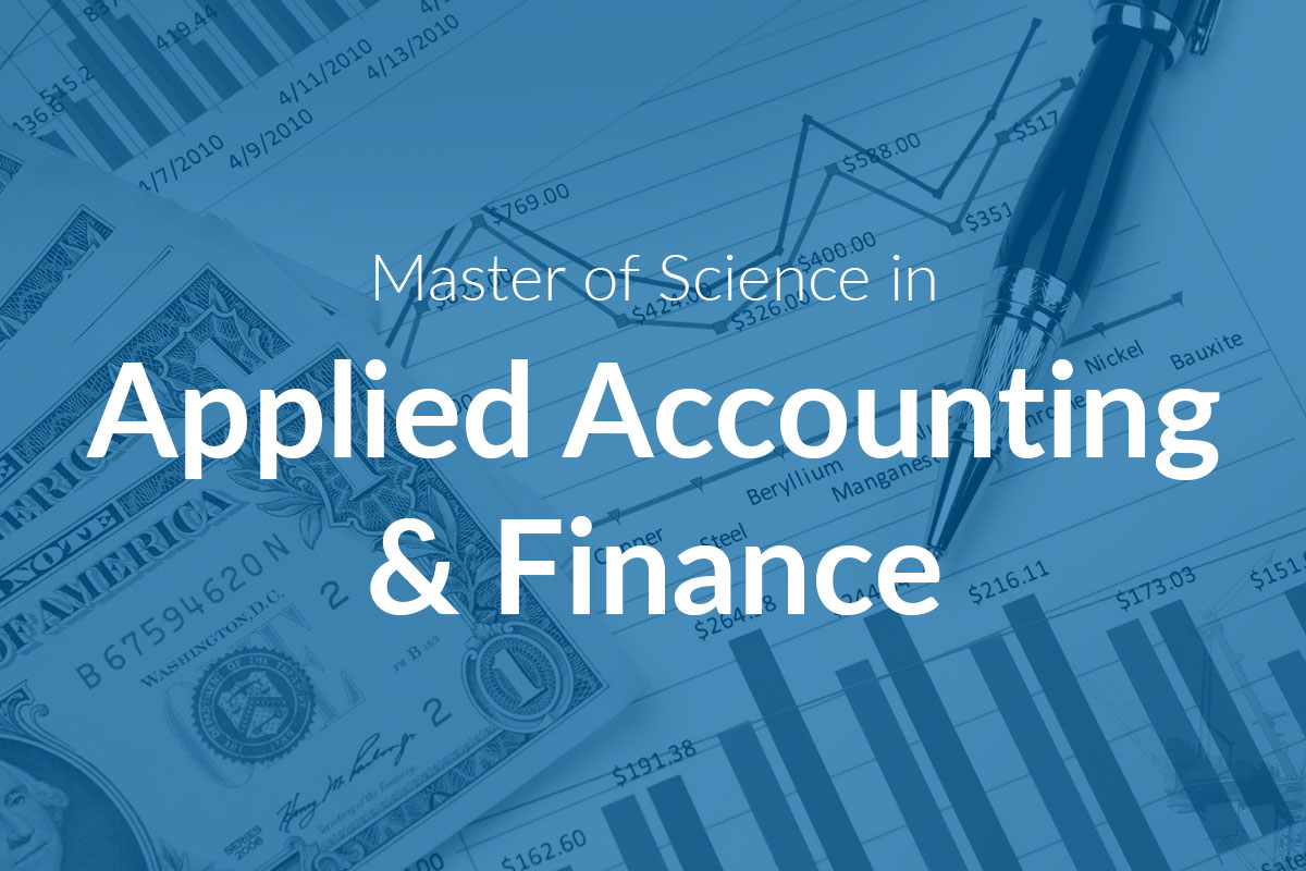 Master of Science in Applied Accounting & Finance (MScAAF)