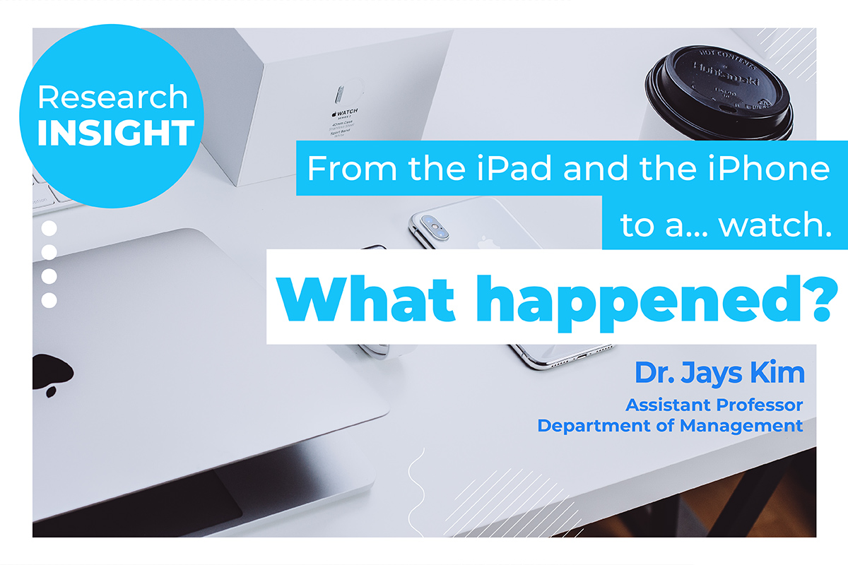 From the iPad and the iPhone to a… watch. What happened?